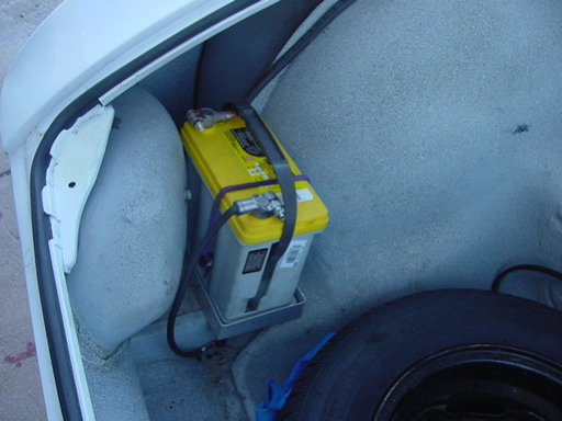 Van Pershing street battery install